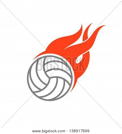 Volleyball. Abstract ball with fire. (EPS 10)