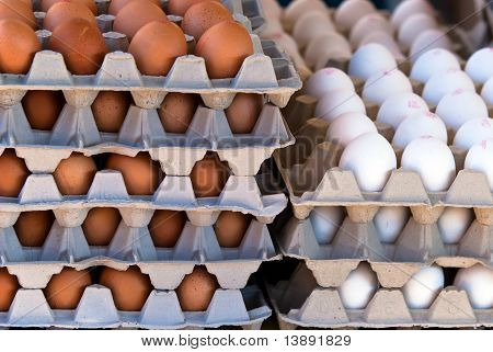 Many Eggs Stairs Stacked