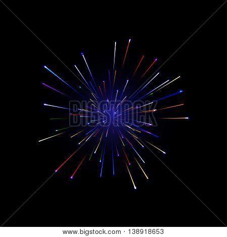 Festive color firework background. Salute. Vector illustration