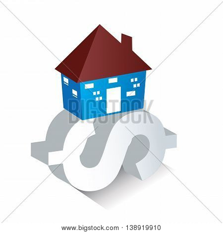 A trendy Graphic depicting housing loan for the purchaser.