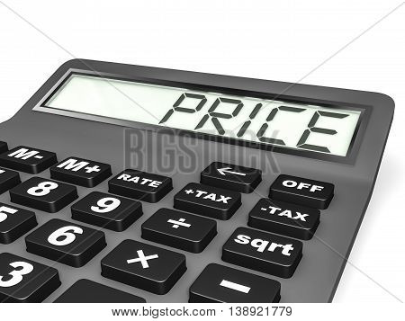 Calculator With Price On Display.