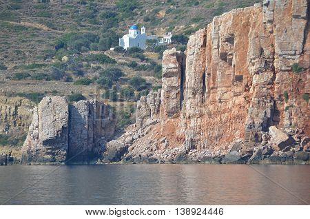 Landscape in Sifnos Greek island, Greek holiday landscapes