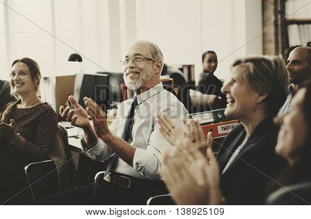 Business Team Meeting Achievement Applaud Concept