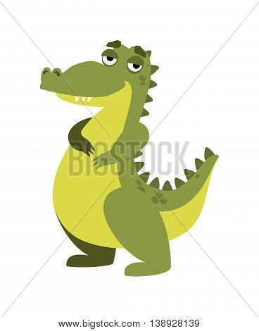 vector illustration funny crocodile on a white background