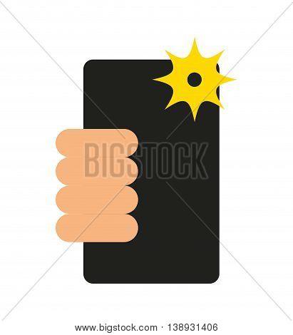 selfie photographic smartphone icon vector isolated graphic