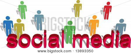 Social Media Words People Symbol Text