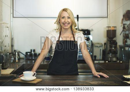 Coffee Shop Cafe Owner Apron Merchandise Concept