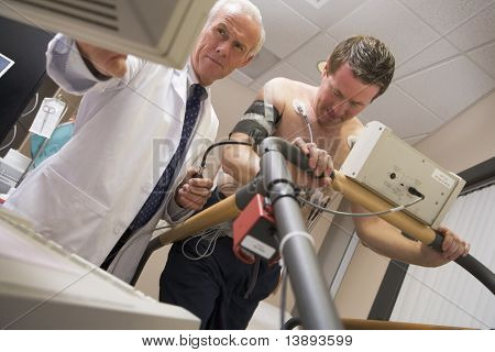 Doctor Monitoring Patient During Health Check