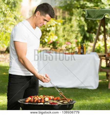 Man And Barbecue