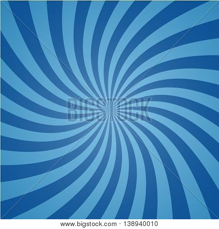 Radial comic background. Swirl design. Vortex spiral illustration. Vector rays pattern. Can be used for cartoon and animation