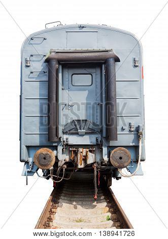 the passenger wagon isolated on white background