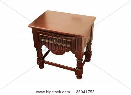 bedside table isolated on a white background