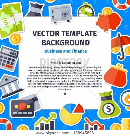 Business and office background in flat style