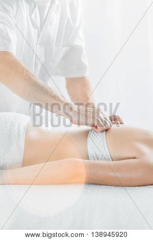 Professional Back Massage At Spa