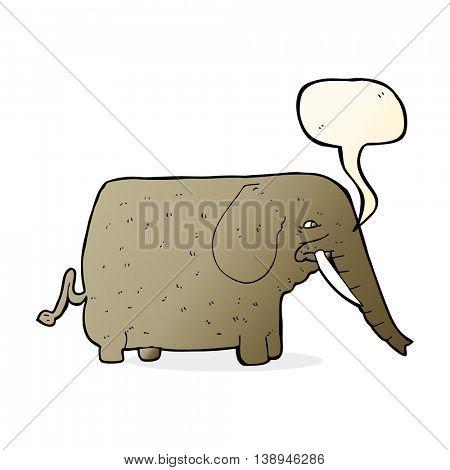 cartoon mammoth with speech bubble