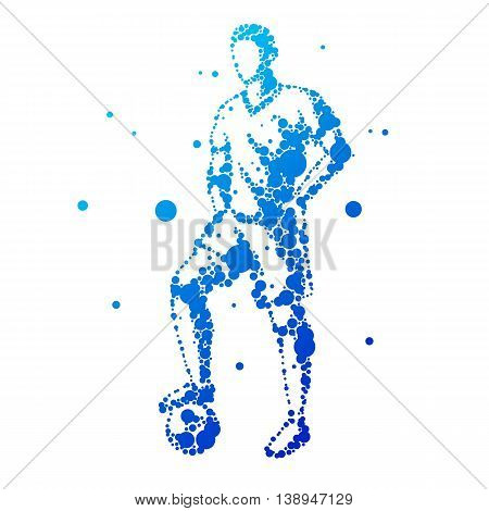 Illustration Of Abstract Football Player.
