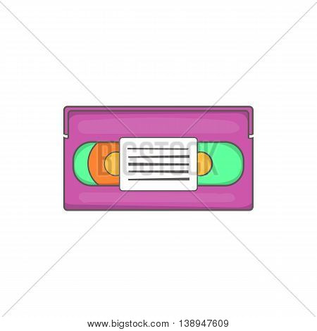 Video cassette icon in cartoon style isolated on white background. Film symbol
