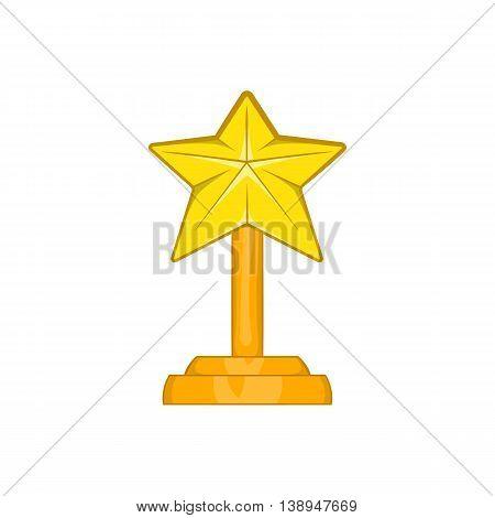 Award star icon in cartoon style isolated on white background. Rewarding symbol