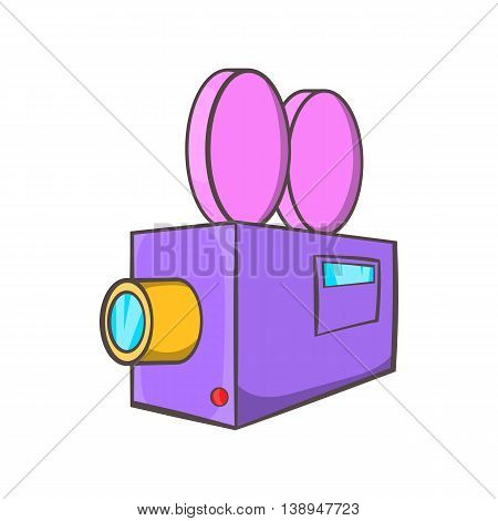Camcorder icon in cartoon style isolated on white background. Video symbol