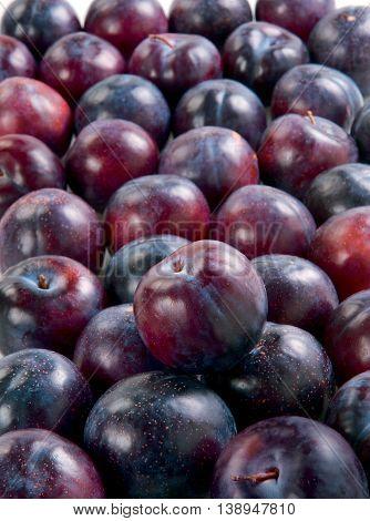 Plums fresh juicy fruit faw healthy food