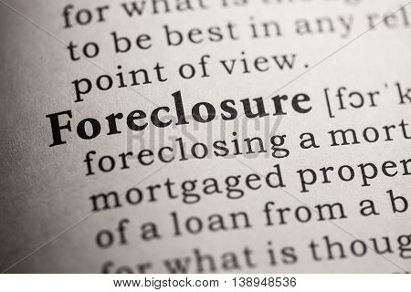 Fake Dictionary Dictionary definition of the word foreclosure.