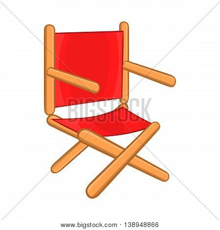 Director chair icon in cartoon style isolated on white background. Furniture symbol