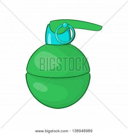 Grenade icon in cartoon style isolated on white background. Weapons symbol
