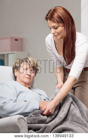Always Taking Care Of Her Mum