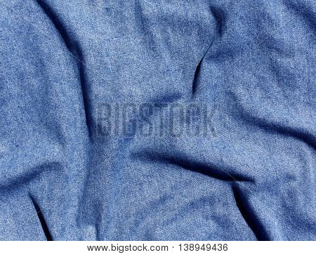 Abstract Wave Jeans Texture.