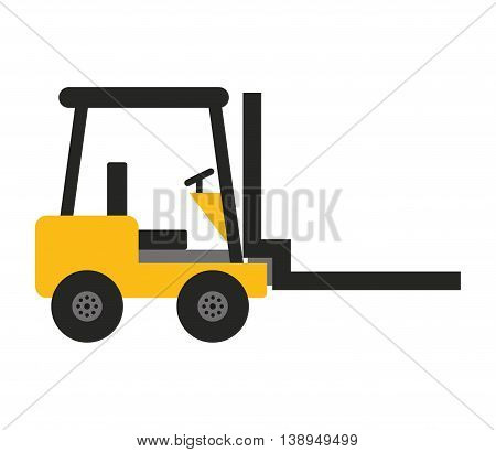 forklift machine lifting icon vector isolated graphic