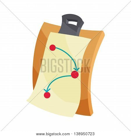 Battle plan icon in cartoon style isolated on white background. War symbol