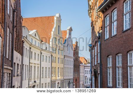 Historic Facades In The Center Of Lubeck