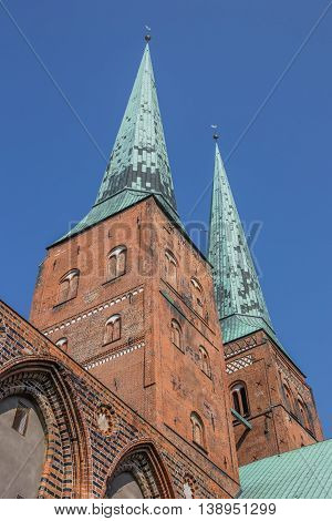Two Towers Of The Lubeck Cathedral