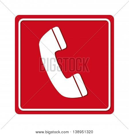 phone call red signal graphic isolated vector