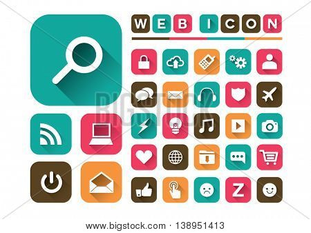 Vector of simple stylized digital icon