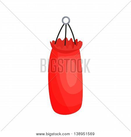 Punching bag icon in cartoon style isolated on white background. Training symbol