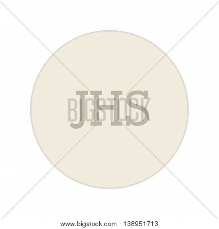 first communion jhs icon graphic isolated vector