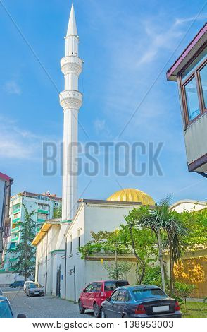 BATUMI GEORGIA - MAY 26 2016: The Orta Jame Mosque famous as Mosque in the middle located in the old town on May 26 in Batumi.