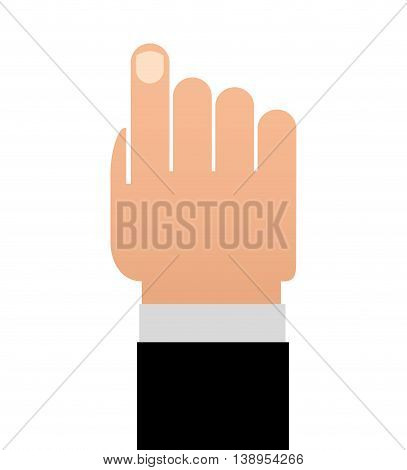 hand human finger index icon vector lated graphic