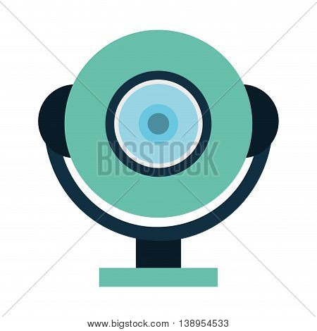 web cam device icon  graphic isolated vector