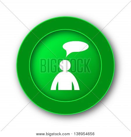 Comments Icon - Man With Bubble