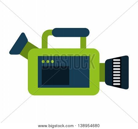 video camera film icon  graphic isolated vector