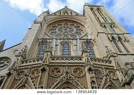 Exterior of the cathedral in Truro, Cornwall