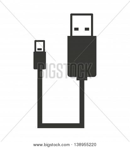 usb connection plug icon  graphic isolated vector
