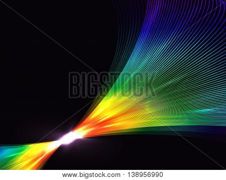 Abstract Background With Rainbow Interlocking Lines