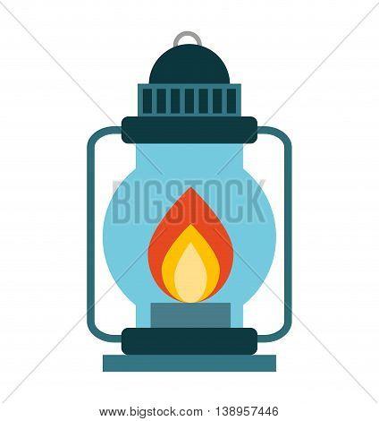lamp fire kerosene icon graphic isolated vector
