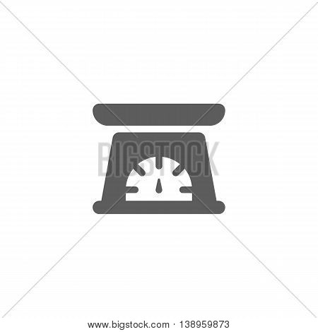 Vector illustration of kitchen scale icon on white background