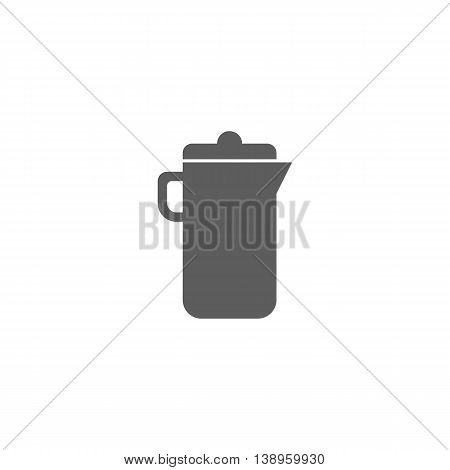 Vector illustration of jug icon on white background