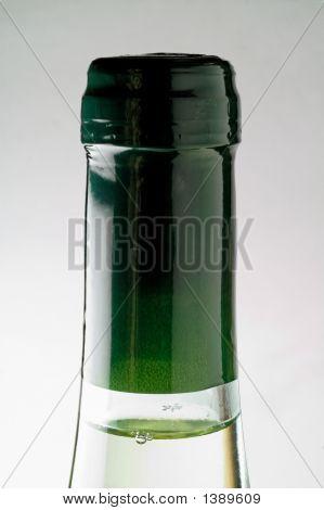White Wine Bottle Closeup