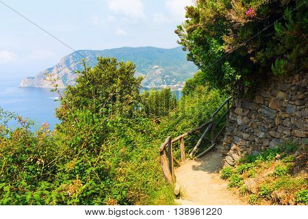 Coastal Hiking Trail In The Cinque Terre, Italy